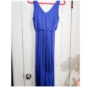 ❤ Lush long blue Maxi dress size L